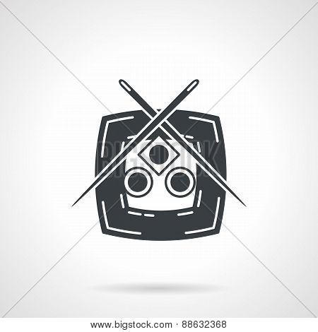 Sushi dish black vector icon