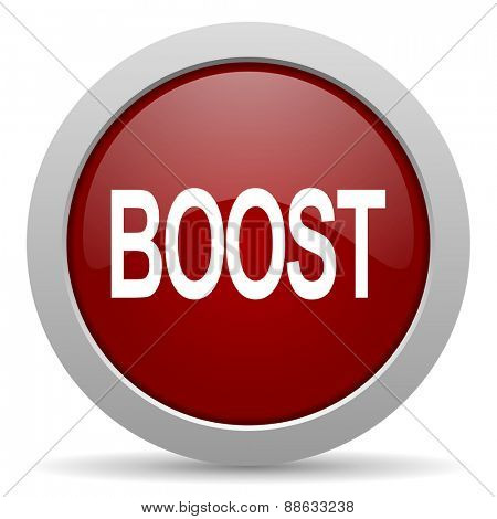 boost red glossy web icon