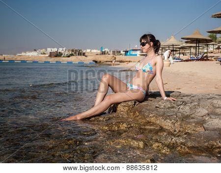 Woman basking in the sun