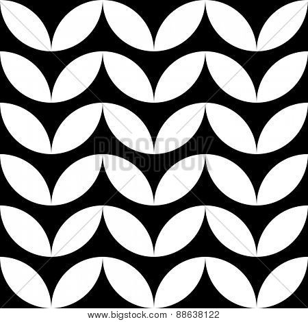 Seamless Leaf Pattern. Vector Monochrome Texture