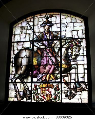Stained Glass Window From The Alcazar Of Segovia Spain
