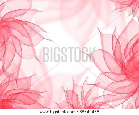 beautiful flowers romantic pink veil on white
