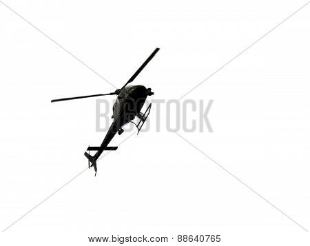 Helicopter In A White Sky