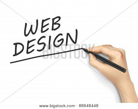 Web Design Words Written By Hand