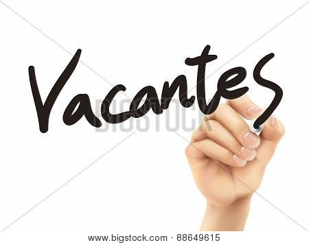 Spanish Words For Vacancies