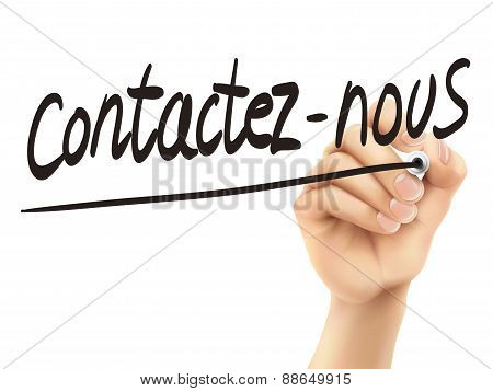 French Words For Contact Us