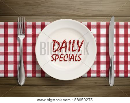 Daily Specials Written By Ketchup On A Plate
