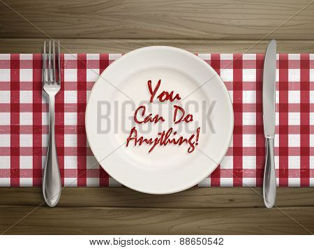 You Can Do Anythings Written By Ketchup On Plate