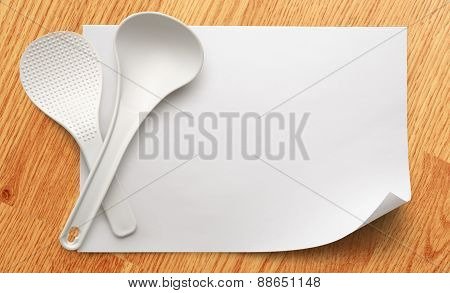 Blank Paper With Ladles