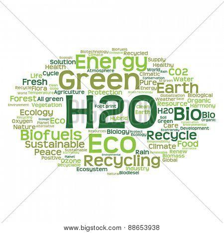 Vector concept or conceptual abstract green ecology and conserva