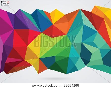 vector illustration of a color on whit background