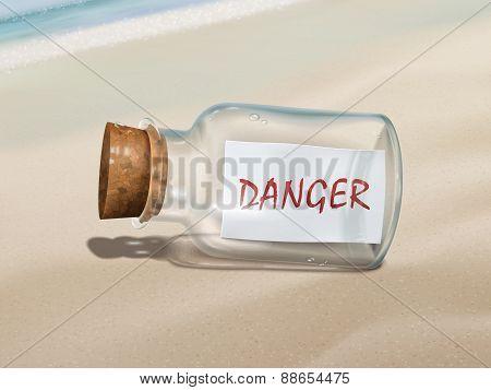 Danger Message In A Bottle