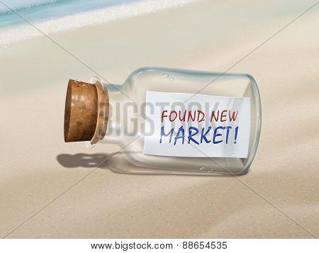 Found New Market Message In A Bottle