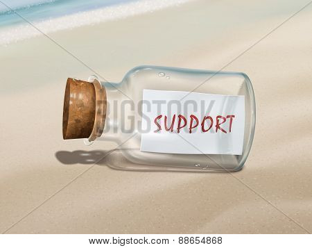 Support Message In A Bottle