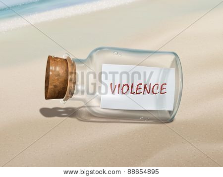 Violence Message In A Bottle