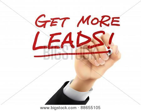 Get More Leads Written By 3D Hand