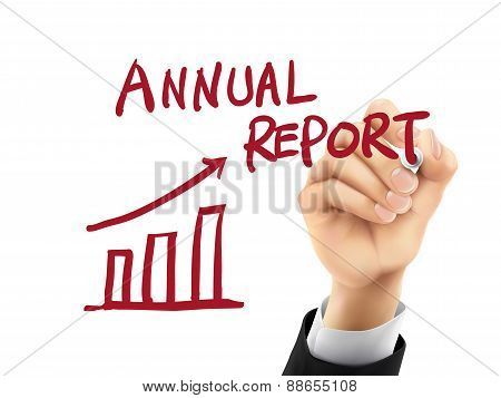 Annual Report Written By 3D Hand