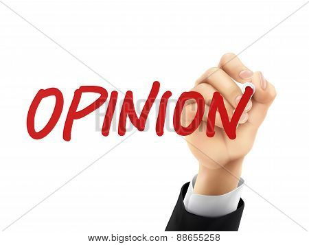 Opinion Written By 3D Hand