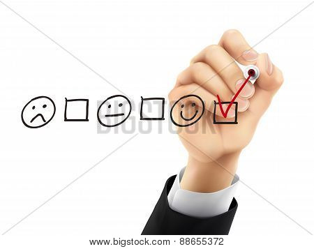 Customer Service Questionnaire Drawn By 3D Hand