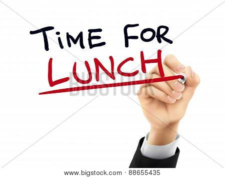 Time For Lunch Written By 3D Hand