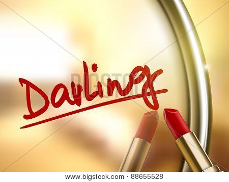 Darling Word Written By Red Lipstick