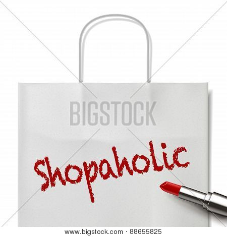 Shopaholic Word Written By Red Lipstick