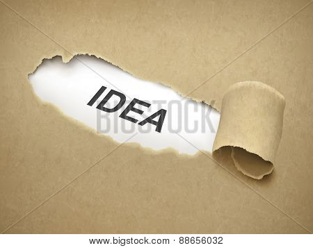 The Word Idea Behind Torn Paper