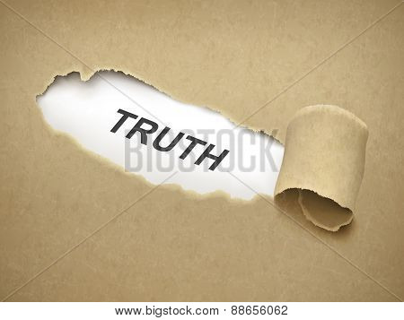 The Word Truth Behind Torn Paper
