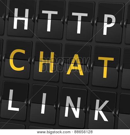 Http Chat Link Words On Airport Board