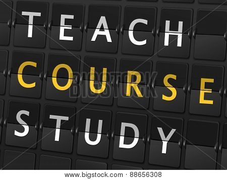 Teach Course Study Words On Airport Board