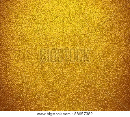 Amber leather texture background