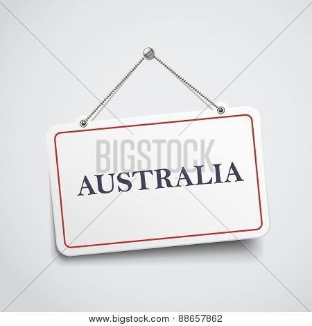 Australia Hanging Sign
