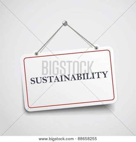 Sustainability Hanging Sign