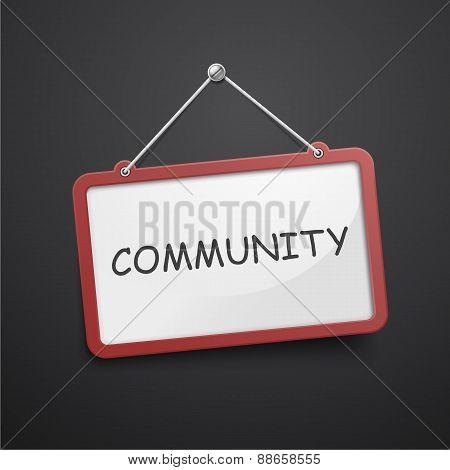 Community Hanging Sign