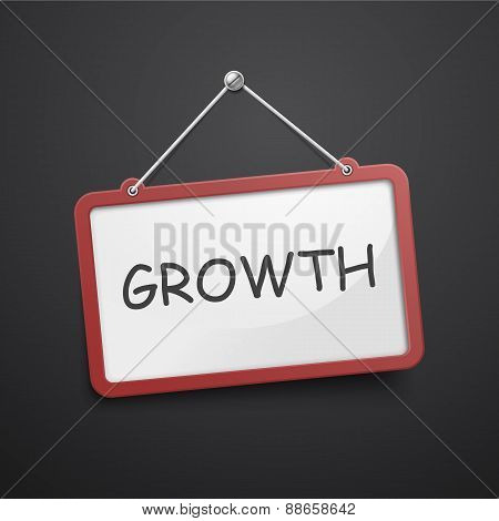 Growth Hanging Sign