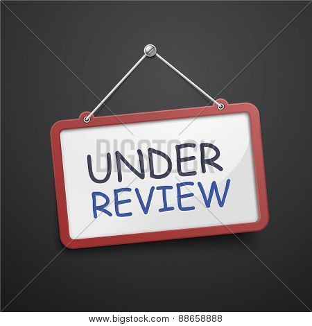 Under Review Hanging Sign
