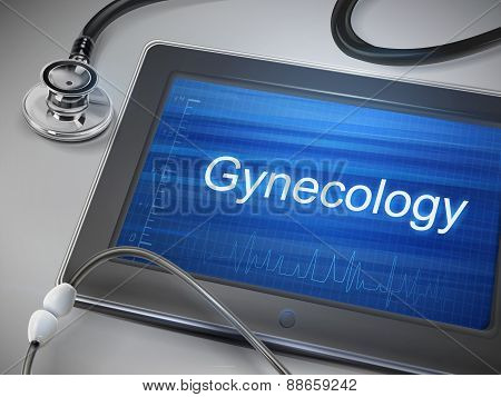 Gynecology Word Display On Tablet