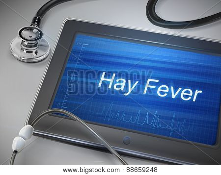 Hay Fever Words Display On Tablet