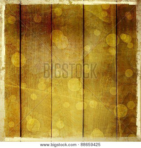 Grunge Wooden Vintage Scratch Background With Blur Boke.