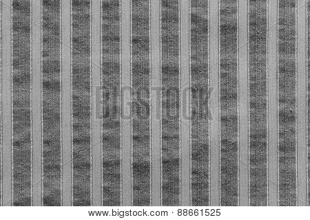 Vertical Texture Of Striped Fabric Gray Color