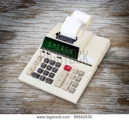 Old Calculator - Energy