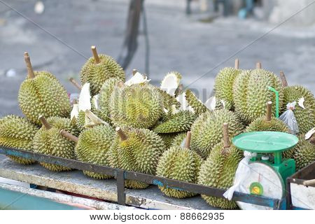 Durian Ripe On Trolley
