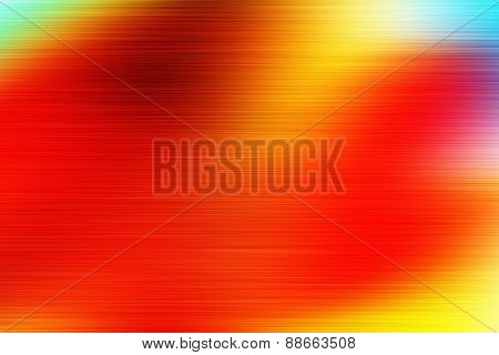 Orange Digitally Generated Image Of Colorful Black Background.