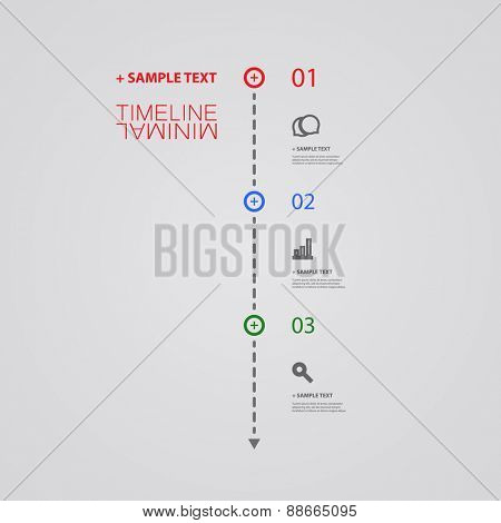 Minimal Timeline Design - Infographic Elements with Linear Icons
