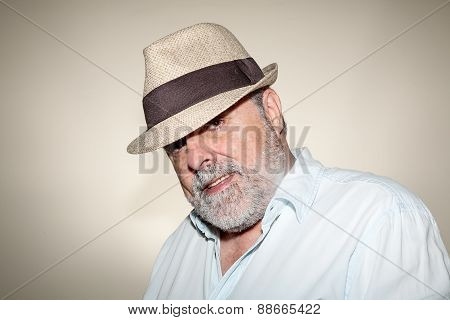 Attractive Senior With White Beard