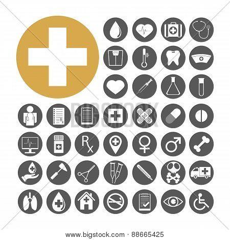 Medical Icon Set Vector Illustration