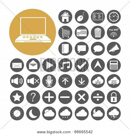 Computer Icon Set Vector Illustration
