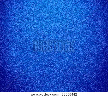 Azure leather texture background