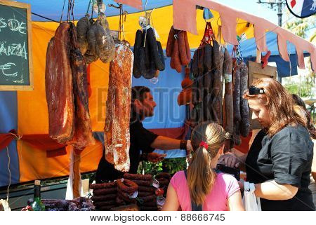 Medieval meat stall, Barbate.