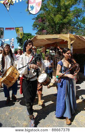 Medieval musicians, Barbate.